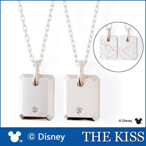 【ディズニーコレクション】 ミッキー& ミニー THE KISS ザ キッス シルバー ペアネックレス ダイヤモンド 【ペア販売】 SV925 DI-SN1830DM-DI-SN1831DM ディズニーペアネックレス ダイヤペアネックレス 記念日 ホワイトデー ホワイトデー