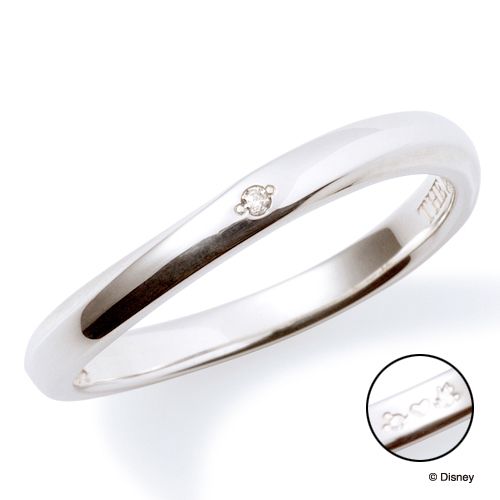 送料無料 【ディズニーコレクション】 ミッキー & ミニー  THE KISS ザ キッス シルバー ペアリング ダイヤモンド 【レディース・1本販売】 指輪 ディズニー SV925製 DI-SR2913DM ペアリング ディズニーペアリング 指輪 THEKISS  記念日 ホワイトデー ホワイトデー