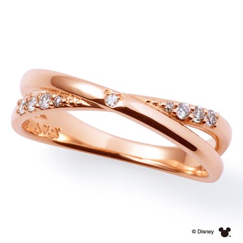 【 ディズニーコレクション 】 THE KISS ザ キッス sweets ピンクゴールド x ダイヤモンド 【レディース・1本販売】ディズニー ペアリング 筆記体日本語刻印可能 指輪 THEKISS DI-PR1808DM 記念日 ホワイトデー ホワイトデー
