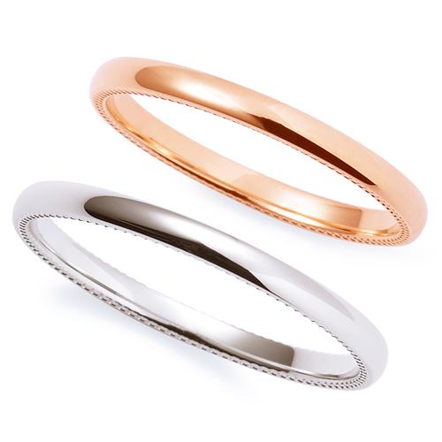 THE KISS ザ キッス sweets 【ペア販売】 ピンクゴールド x ホワイトゴールド K10PG K10WG ペアリング 筆記体日本語刻印可能 K-R2302PG-K-2302WG 結婚指輪 マリッジリング 記念日 ホワイトデー ホワイトデー 安い