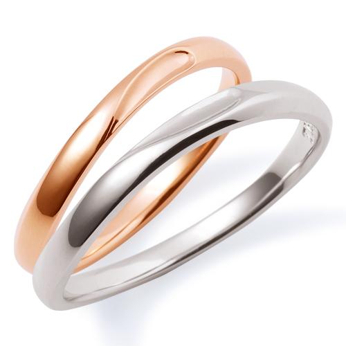 THE KISS ザ キッス sweets 【ペア販売】 ピンクゴールド x ホワイトゴールド K10PG K10WG ペアリング 筆記体日本語刻印可能 K-R1802PG-K-1803WG 結婚指輪 マリッジリング 記念日 ホワイトデー ホワイトデー 安い