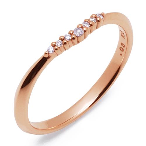 THE KISS ザ キッス sweets 【レディース・1本販売】 ピンクゴールド x ダイヤモンド ペアリング 筆記体日本語刻印可能 K-R2709PG 結婚指輪 マリッジリング 記念日 ホワイトデー ホワイトデー 安い