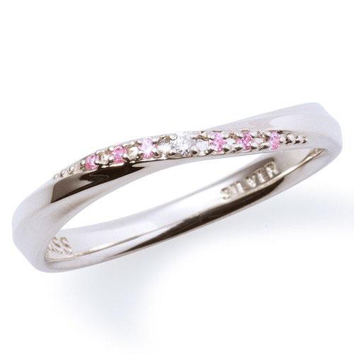 THE KISS ザ キッス シルバー ペアリング 【レディース・1本販売】 指輪 THEKISS SV925製 ダイヤモンド SR1863DM 送料無料 記念日 ホワイトデー ホワイトデー