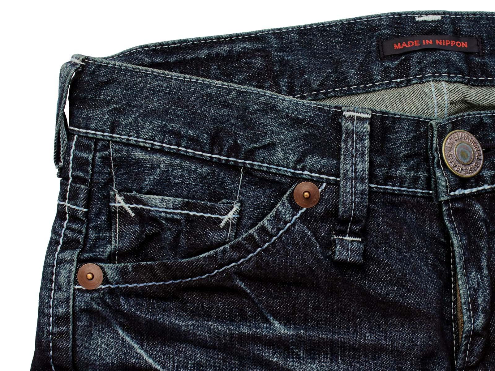 BLUEWAY: 复古牛仔布工程型牛仔裤 (蓝色麻花): M1634 5435 BLUEWAY (blueway) 牛仔裤