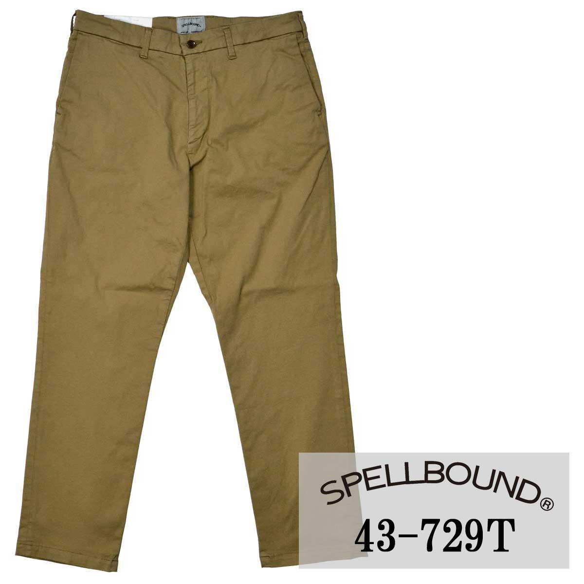 SPELLBOUND:ISKOストレッチチノ・リラクシングトラウザー(モカブラウン36-2):43-729T スペルバウンド メンズ イスコ パンツ 裾上げ