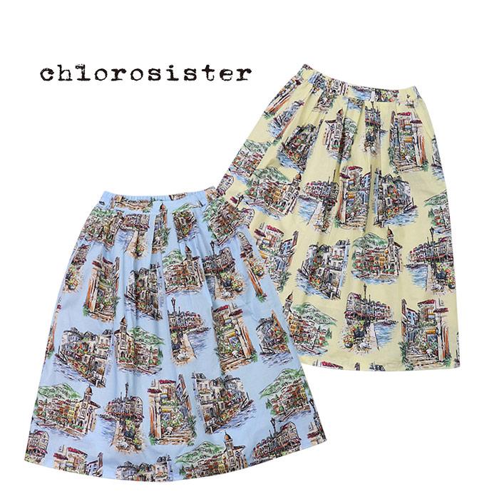 【30%OFF】Chloro sister/クロロシスター <レディース> 裏地付き柄スカート CS3193
