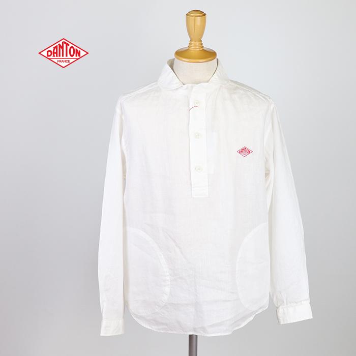 DANTON ダントン メンズ 丸襟プルオーバーシャツ リネン JD-3568KLS