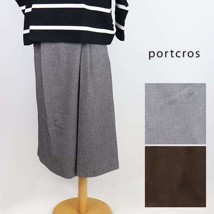 30%OFF portcros ポートクロス キュロットパンツ ワイド 日本製 新品未使用正規品 ダブルクロスドビーパンツ 受賞店 I-8494 レディース