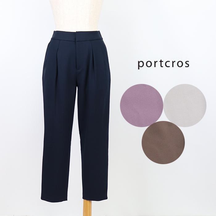 【30%OFF】portcros/ポートクロス <レディース> ウォーム裏起毛タックテーパードパンツ I-8496