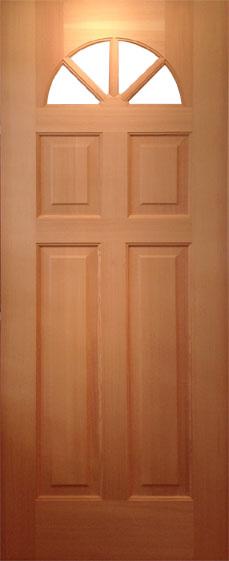 【輸入木製ドア】 813×2032×44サイズ バファレン 木製外部ドア5144S