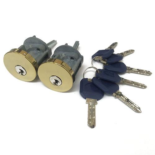 クイックセット デッドボルト用 ダブルシリンダー(同一キー)セキュリティーロック/K3262T ゴールド色