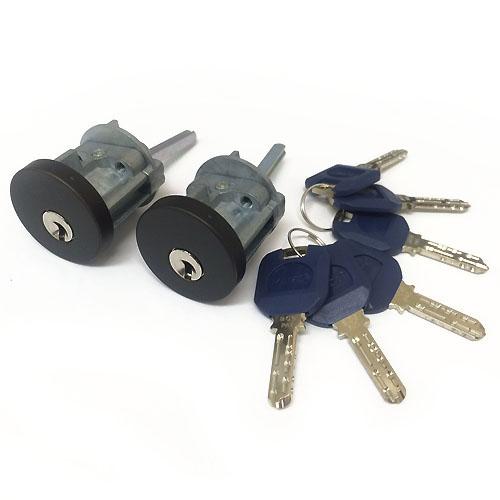 クイックセット デッドボルト用 ダブルシリンダー(同一キー)セキュリティーロック/K3262T ブロンズ色