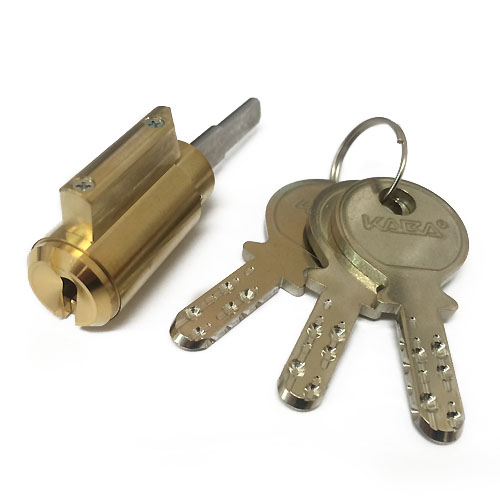 エムテック デッドボルト用 セキュリティーロック シングルシリンダー/M1350 真鍮色