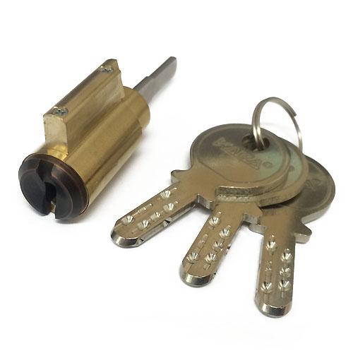 エムテック デッドボルト用 セキュリティーロック シングルシリンダー/M1350 ブロンズ色