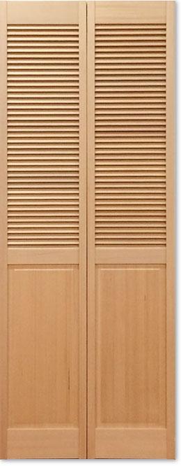 【木製クローゼットドア】オリジナル木製クローゼットドア ハーフルーバー 1424 W606
