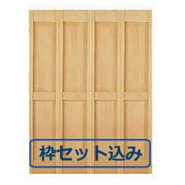 【木製クローゼットドア】オリジナル木製クローゼットドア1440 W1825 3方枠セット込