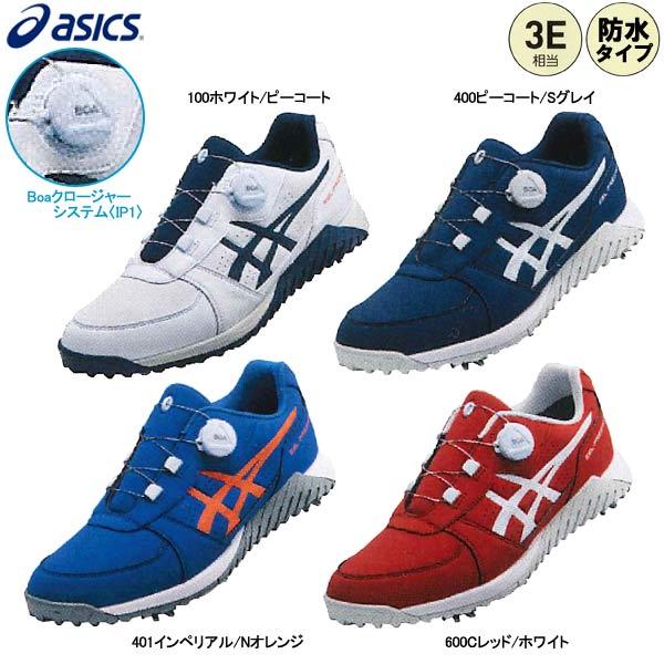 【4/1限定 カードでポイント8倍!】【19年SSモデル】 アシックス メンズ ゴルフシューズ 1113A003 ゲルプレショット ボア (3E相当) GEL-PRESHOT Boa (Men's) asics GOLF