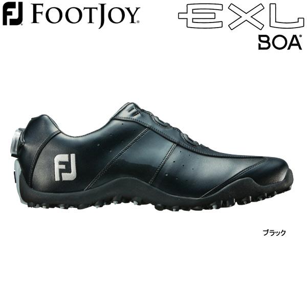 【18年AWモデル】フットジョイ ゴルフシューズ EXL スパイクレス ボア (Men's) 45184 (ブラック) 横幅(ウィズ)/W FOOTJOY EXL Spikeless Boa