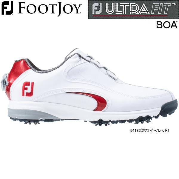 【20年モデル】フットジョイ ゴルフシューズ FJ ウルトラフィット XW ボア (Men's) 54183(ホワイト/レッド) 横幅(ウィズ)/XW FOOTJOY ULTRA FIT XW Boa
