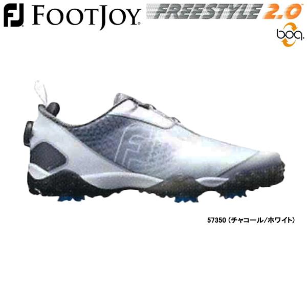 【19年継続モデル】フットジョイ ゴルフシューズ フリースタイル 2.0 ボア (Men's) 57350 (チャコール/ホワイト) 横幅(ウィズ)/W FOOTJOY FREESTYLE 2.0 Boa