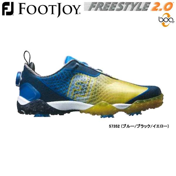 【19年継続モデル】フットジョイ ゴルフシューズ フリースタイル 2.0 ボア (Men's) 57352 (ブルー/ブラック/イエロー) 横幅(ウィズ)/W FOOTJOY FREESTYLE 2.0 Boa