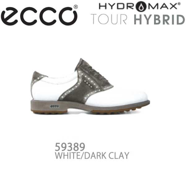 【16年モデル】 エコー メンズ ゴルフシューズ TOUR HYBRID 141614-59389(WHITE/DARK CLAY) (Men's) ecco