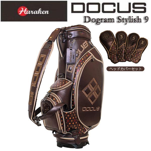 ♪【数量限定】【18年モデル】ハラケン ドゥーカス キャディバッグ ヘッドカバーセット(#1,#3,#5,X) (Men's) HARAKEN DOCUS Bag Dogram Stylish 9 DCC733