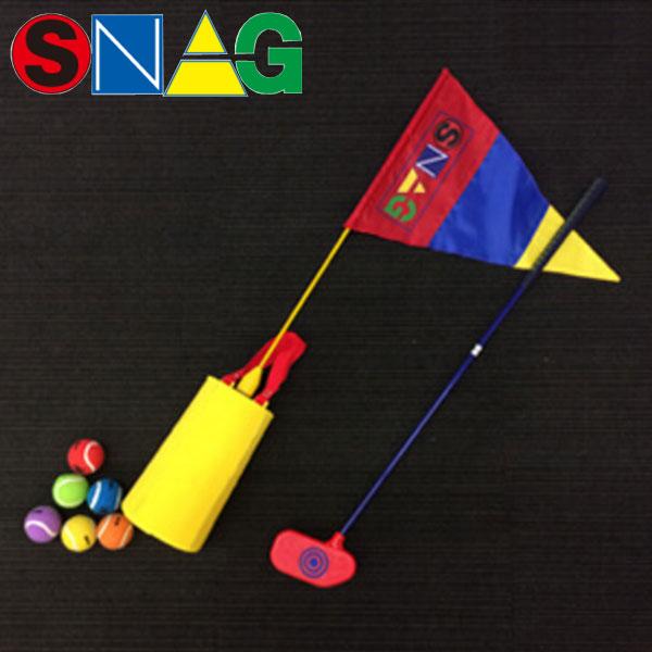 【17年モデル】 スナッグゴルフ パッティングセットA 0043 (ローラー,スナッグボール(6個), スナッグフラッグ) SNAG GOLF