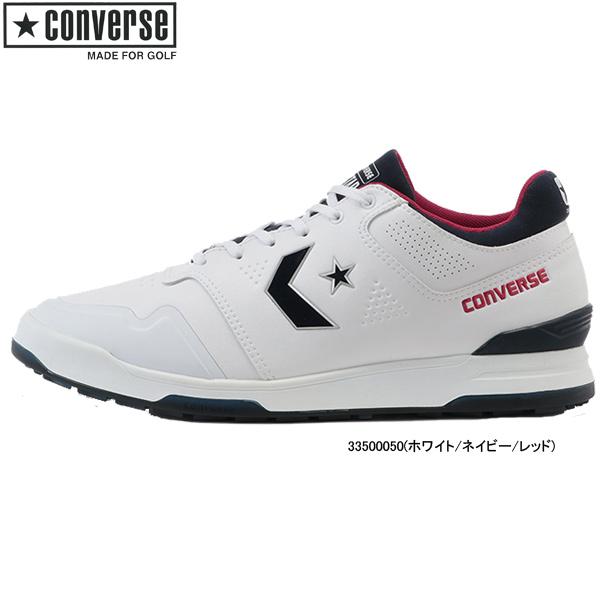 ♪【20年春夏モデル】コンバース メンズ/レディース ゴルフ シューズ スターテック GF (UNISEX) 33500050(ホワイト/ネイビー/レッド) CONVERSE