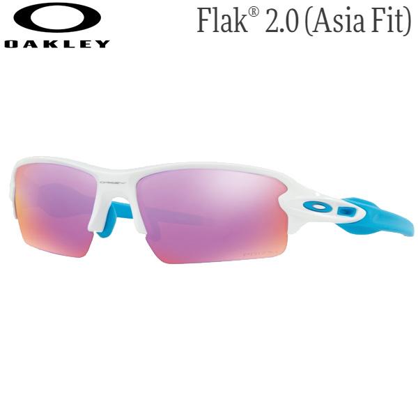 定番モデル オークリー メンズ スポーツサングラス OO9271-1761 ポリッシュドホワイト プリズムゴルフ Men's Asia 卓抜 全品送料無料 OAKLEY Flak 2.0 Fit