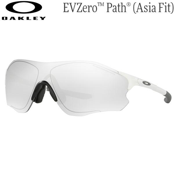 オークリー メンズ スポーツサングラス OO9313-0638 [マットホワイト/調光クリア ブラックイリジウム] (Men's) OAKLEY EVZero Path (Asia Fit)