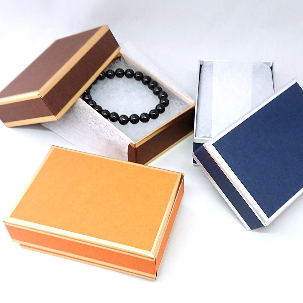 どんなアイテムも対応 《ライトでポップなマットペーパー》ジュエリーケース 多目的用アクセサリーケース ジュエリーボックス 宝石箱 オンラインショップ プレゼント ギフトボックス オレンジ ダークブルー 箱 紺色 ブラウン 小物入れ 2020 茶色