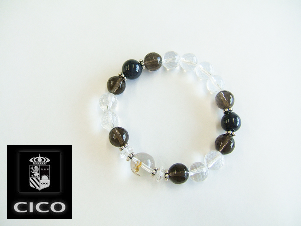 【CICO】ブラックスターダイオプサイトD《天然石・パワーストーンブレスレット・男性用(メンズ・Mensブレスレット)》