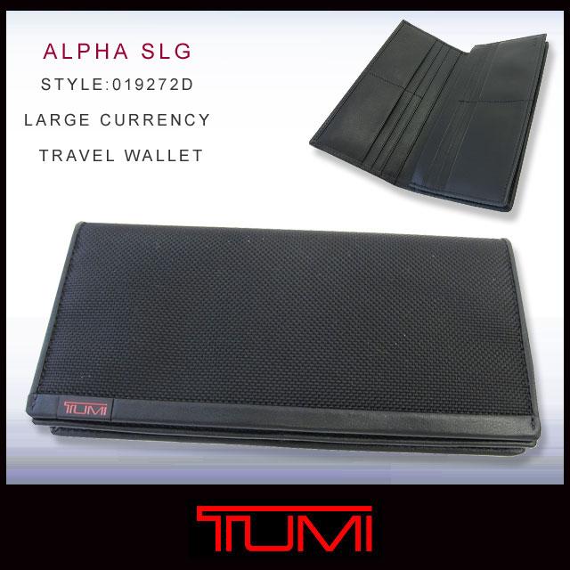 TUMI tumi钱包19272 ALPHA SLG LARGE CURRENCY TRAVEL WALLET大量·通·旅行·钱包