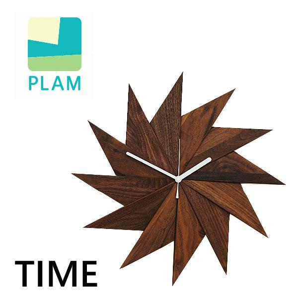 天然木 ウォールクロック 風 TIME ウォルナット 掛け時計 木製 ウッド 天然木 インテリア 雑貨 おしゃれ ギフト HIDAKAGU/ラトレ(Latree)国内 【正規品】 PL1TIM-0030414 HJPL-571 WNOL