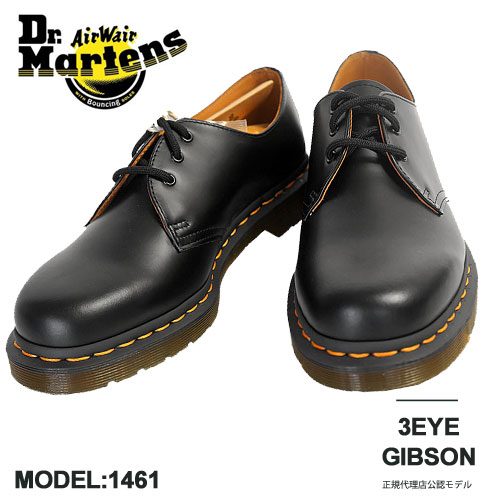 professional sale coupon codes clearance prices 1461 doctor Martin Dr.Martens men 3 hall leather shoes Gibson genuine  leather feather 1461 3EYE GIBSON SHOE 1461 59 10085001 BLACK SMOOTH black  out of ...