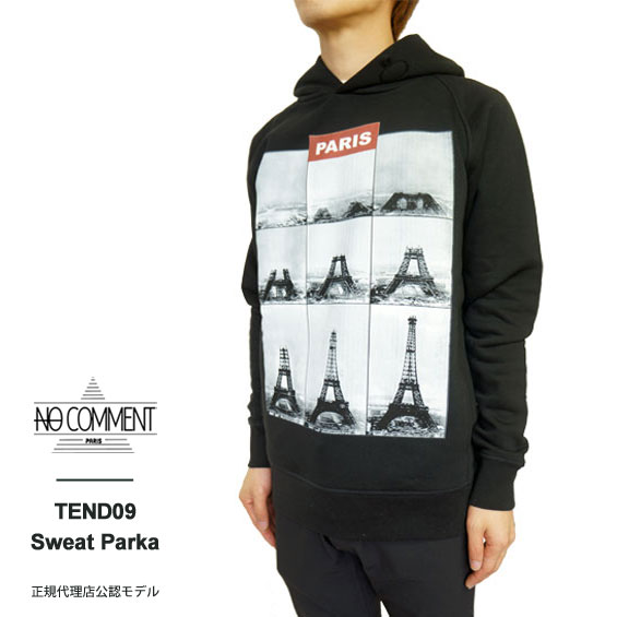 [30%offSale]ノーコメント パリ NO COMMENT PARIS NC-HDM TEND09 HOOD PARKER グラフィック プリント フード パーカー スウェット プルオーバー メンズ