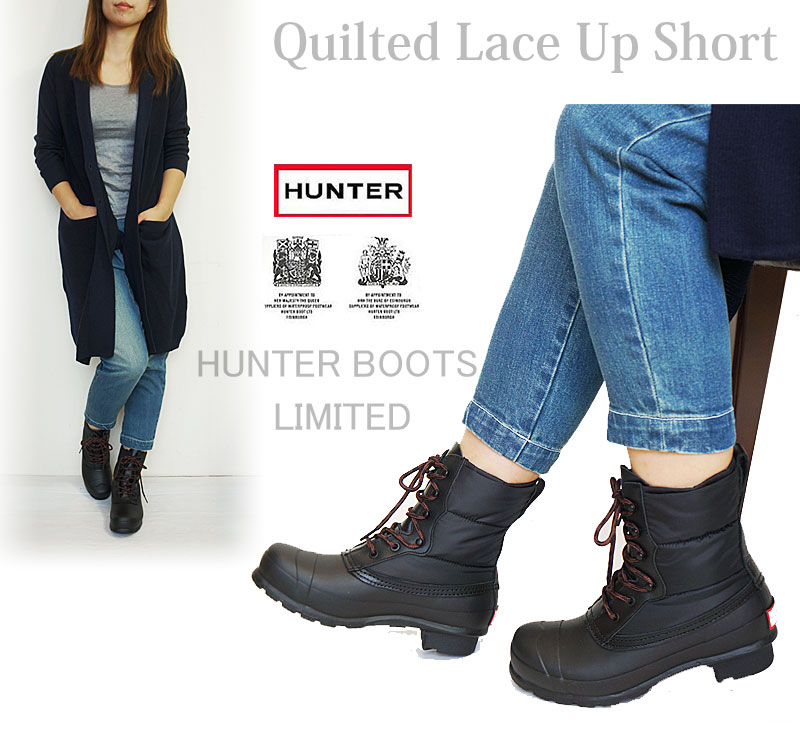 ae5aac3dd6e0 j-pia  HUNTER BOOT Hunter rain boots Childress up quilt boots short ...