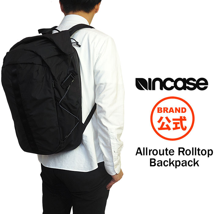 Incase インケース リュック ロールトップ バックパック リュックサック バッグ ナイロン リップストップ Allroute Rolltop Backpack 国内 【正規品】 安心保証書付き INCO100418 37183004 [2018 AW New]