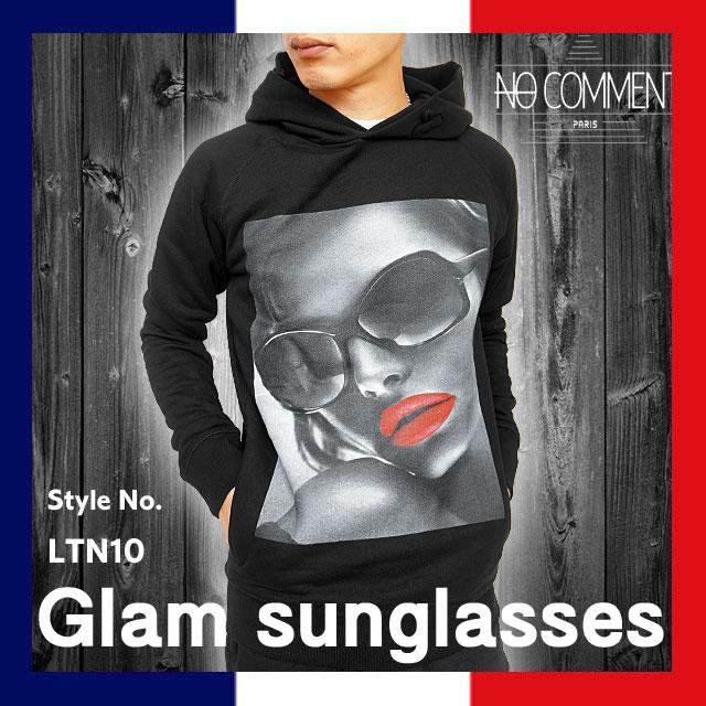[20%offSale]ノーコメント パリ NO COMMENT PARIS NC-HDM LTN10 グラフィック プリント プルオーバー パーカー スウェット 裏起毛 メンズ 国内 【正規品】NC-HDM LTN10 Glam sunglasses