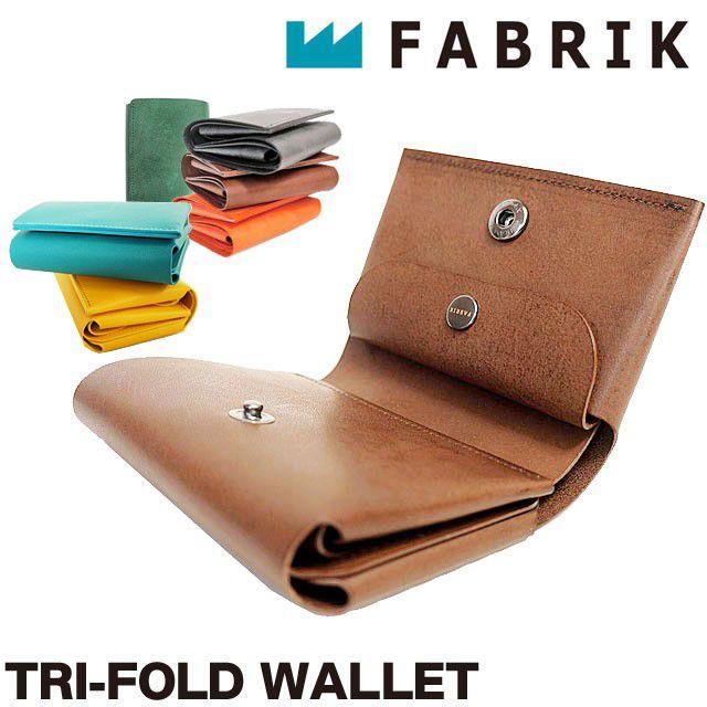 FABRIK ファブリック 三つ折り財布 レザー カードケース コインケース 小銭入れ付き 本革 ワックスコーティング  F13013 TRI-FOLD WALLET