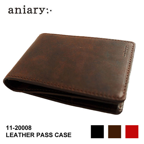 [Sale 20%OFF]aniary アニアリ 財布 レザー パスケース 今流 コイン パスケース カードケース アイディアルレザー LEATHER PASS CASE 国内正規総代理店アイテム 11-20008 小銭入れ 財布