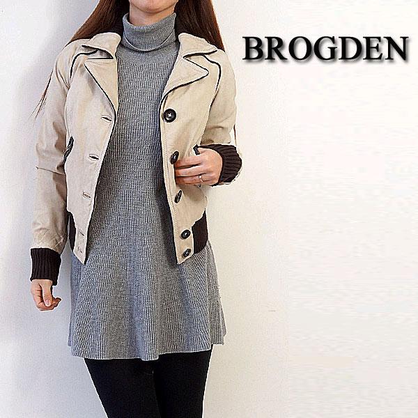 [Sale 60%OFF]BROGDEN[ブログデン]レディースレザーライダースジャケットSサイズ限定! 【店頭受取対応商品】