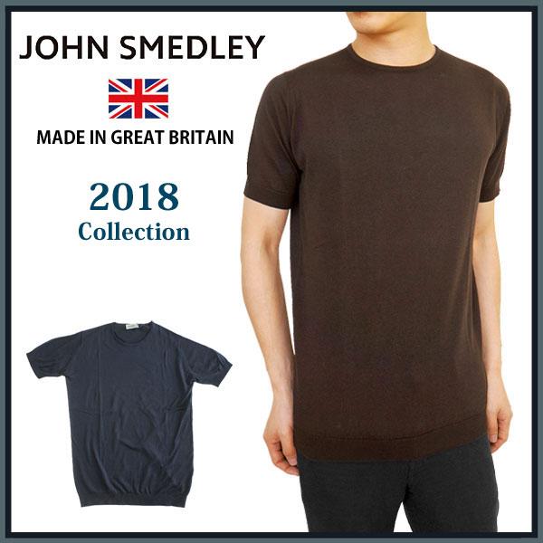 [20%offSale]【2018 New】JOHN SMEDLEY ジョンスメドレー BELDEN 半袖 コットン ニット メンズ クルーネック カットソー 国内 【正規品】 STANDARDFIT BELDEN T-SHIRT CN SS