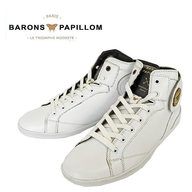 [10%OFFクーポンプレゼント!][Sale 20%off]Barons Papillom バロン パピヨム レザー ハイカット スニーカー レディース ベルクロ スポーツ シューズ 【国内 正規品】 BA-20-01 Barons Athletic メーカーPRICE:39,000yen(+tax)