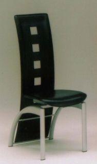 FP-DC-7005A ダイニングチェアー(食堂イス・食堂椅子)【2脚セット】【黒】【ブラック】【パイプメッキ】【送料無料】 【送料無料●激得】