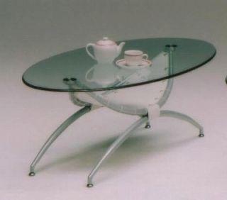FP-CT-21 リビングテーブル(センターテーブル・ローテーブル・ガラステーブル) 【ホワイト(白)】【送料無料】 【送料無料●激得】