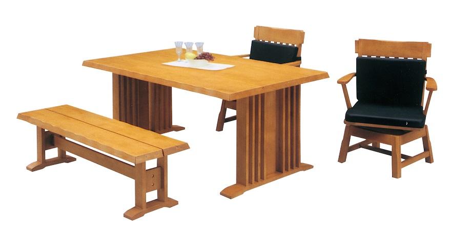 ダイニング 4点セット kirisima【霧島】ダイニングテーブル・ダイニングベンチ・ダイニングチェアー(椅子2脚)のセットです。】 【送料無料】 【送料無料●激得】