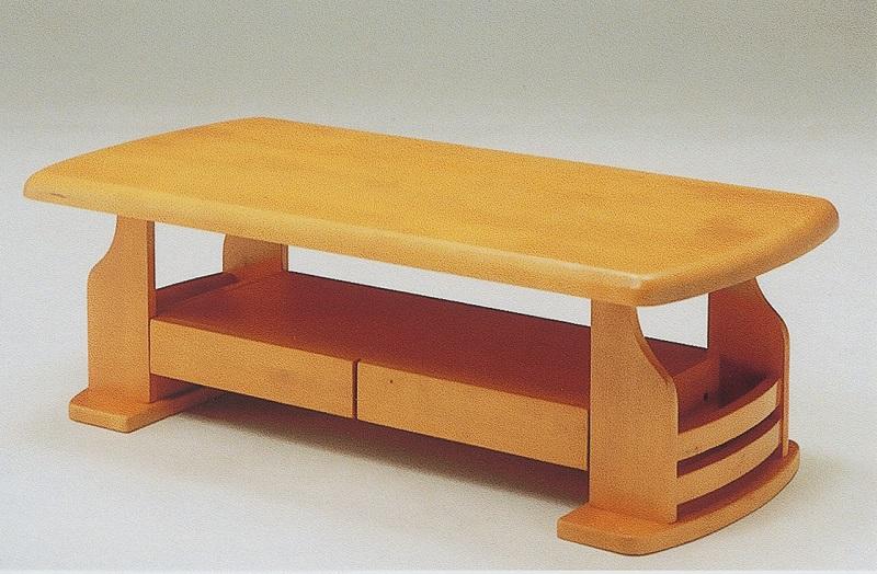 120cm幅 センターテーブル ドルチェ(2色対応) (ブラウン/ナチュラル)