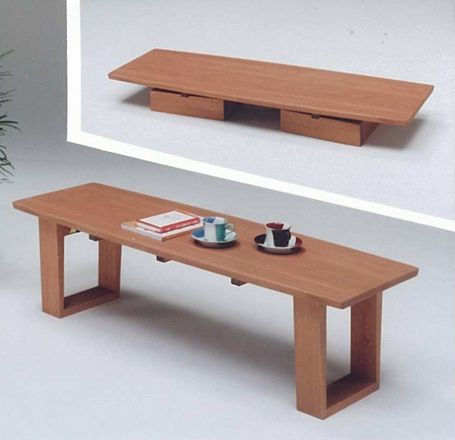LT-ZEN 135 リビングテーブル(センターテーブル・ローテーブル)【ライトブラウン(茶色)/ブラウン(茶色)】【送料無料】 【送料無料●激得】